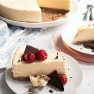 photo of a keto low carb cheesecake by top Houston lifestyle blogger Ashley Rose of Sugar & Cloth