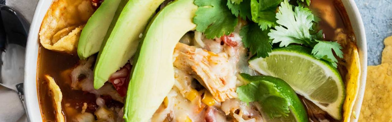 photo of how to make an easy chicken tortilla by top Houston lifestyle blogger Ashley Rose of Sugar & Cloth