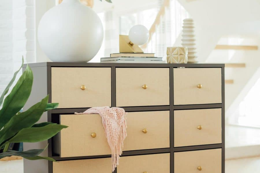 photo of rattan chests of drawers