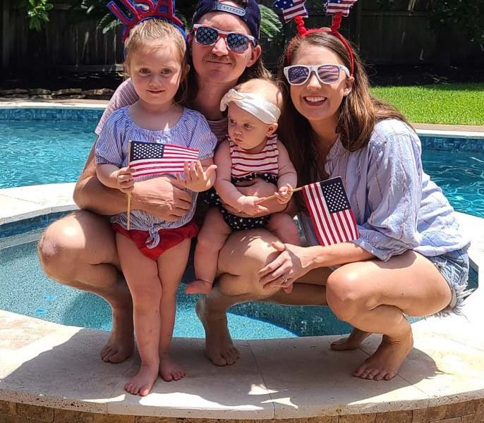 photo of our family at 4th of july