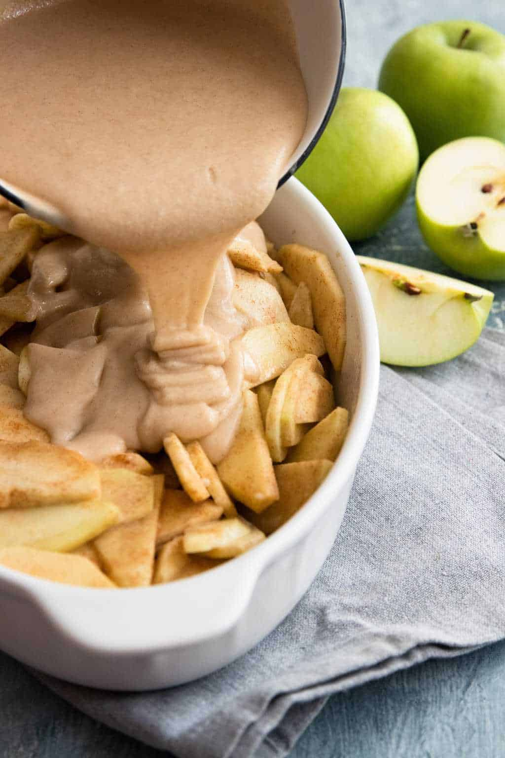 photo of how to make the apple cobbler filling by top Houston lifestyle blogger Ashley Rose of Sugar & Cloth
