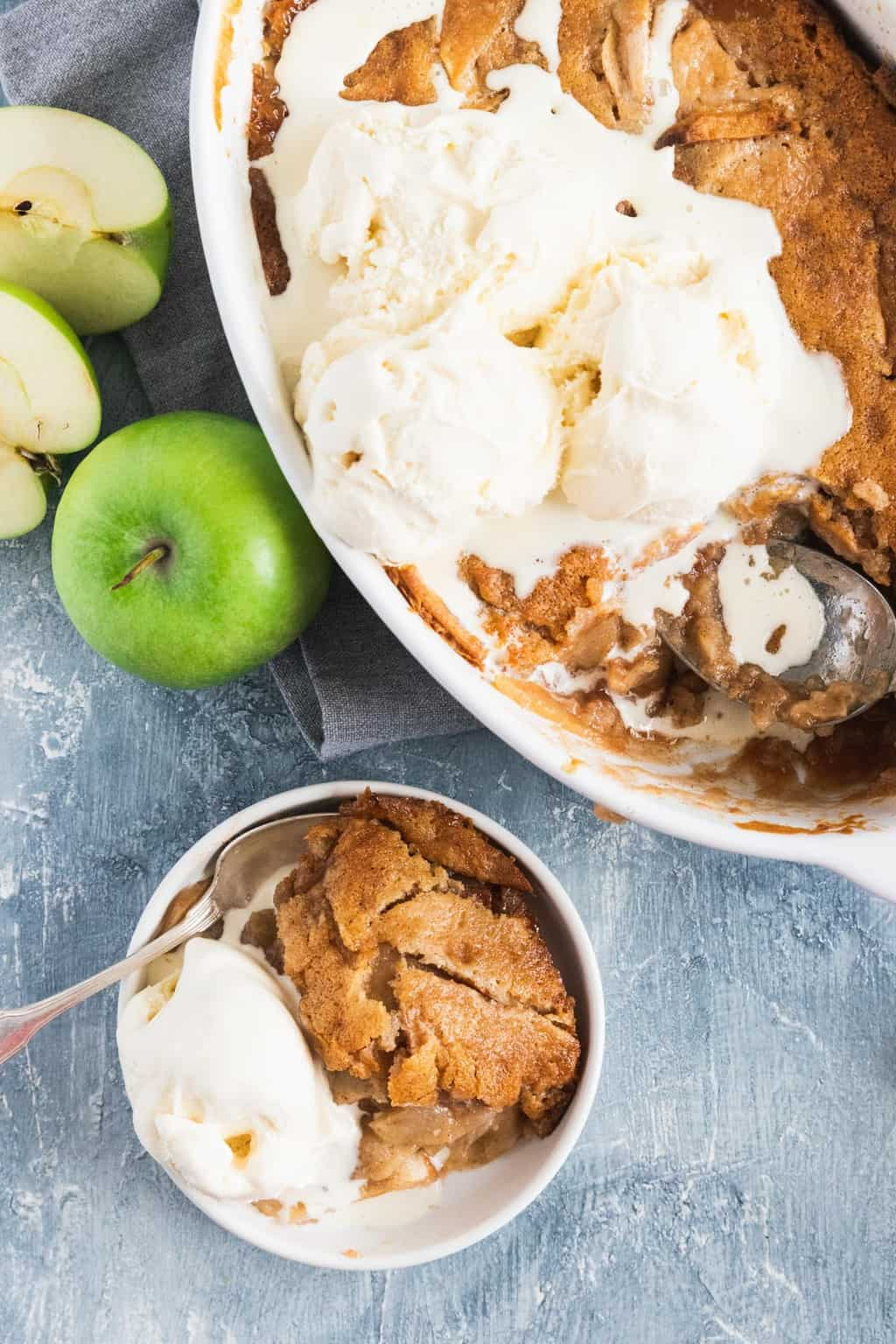 photo of an easy fall dessert, the apple cobbler by top Houston lifestyle blogger Ashley Rose of Sugar & Cloth