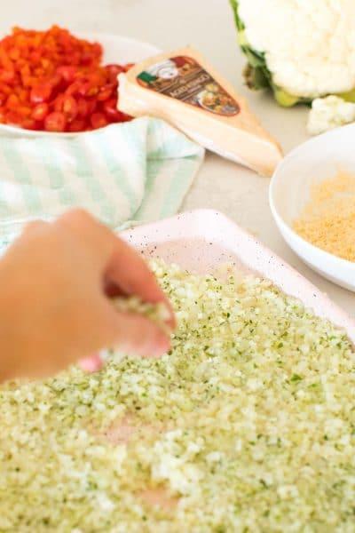 how to make cauliflower pizza dough