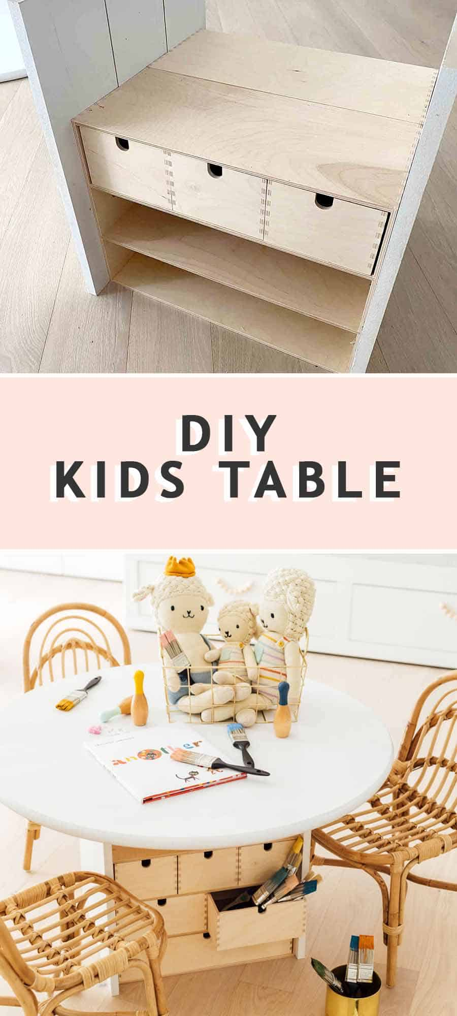 photo of a step by step guide on how to make an easy DIY Kids Table by top Houston lifestyle blogger Ashley Rose of Sugar & Cloth