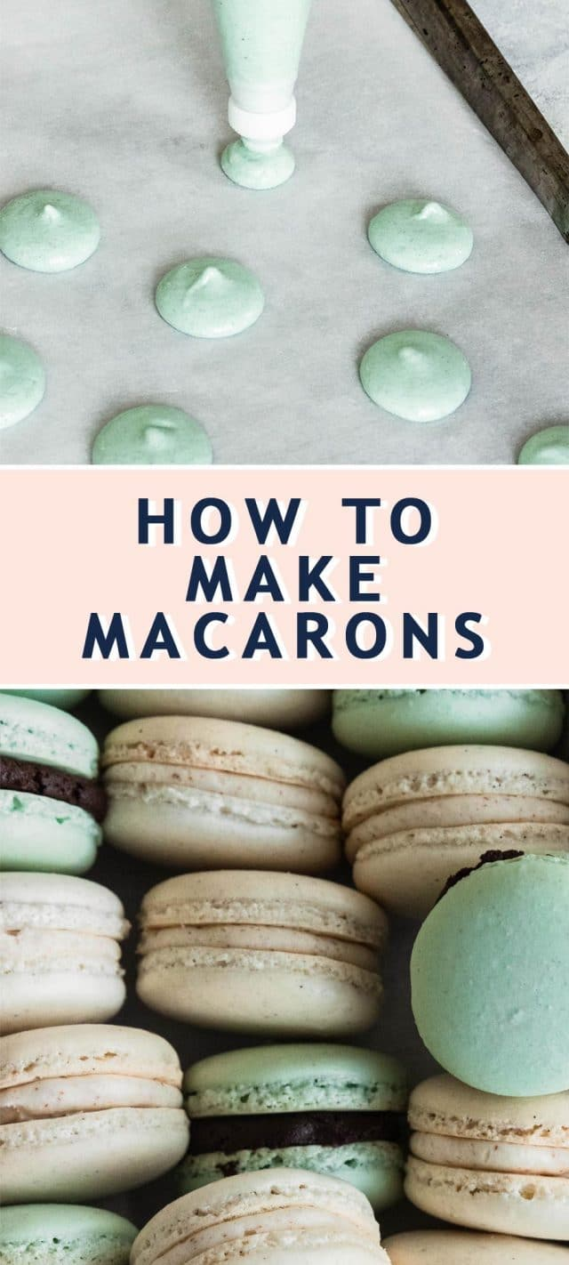 photo of the recipe card on how to make macarons y top Houston lifestyle blogger Ashley Rose of Sugar & Cloth