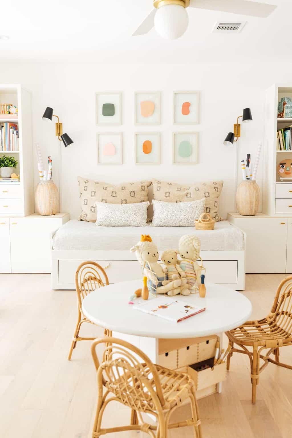 a DIY budget friendly kids playroom design idea