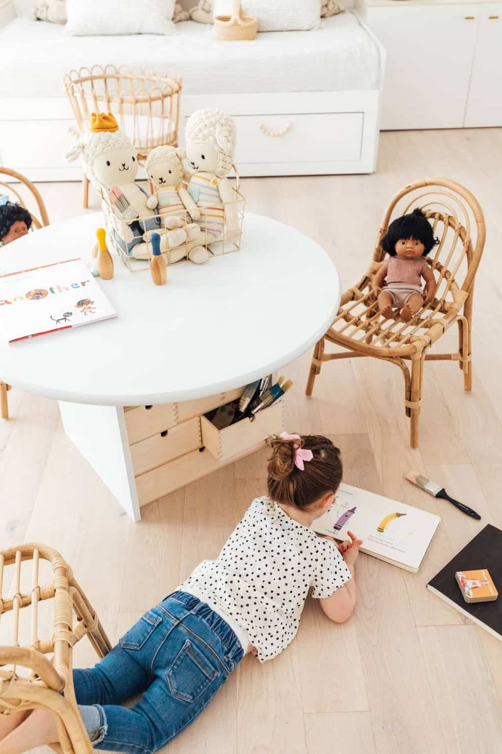 photo of our Ikea hack kid's table by top Houston lifestyle blogger Ashley Rose of Sugar & Cloth