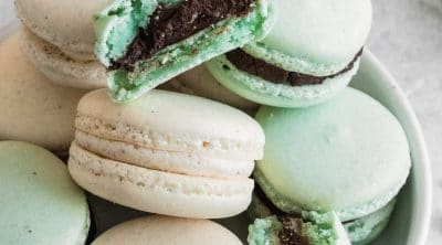 photo of the chocolate buttercream macaron filling by top Houston lifestyle blogger Ashley Rose of Sugar & Cloth