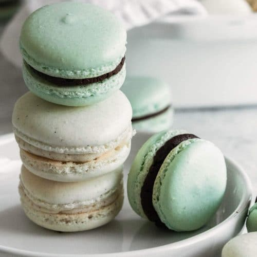 photo of buttercream and chocolate macarons by top Houston lifestyle blogger Ashley Rose of Sugar & Cloth