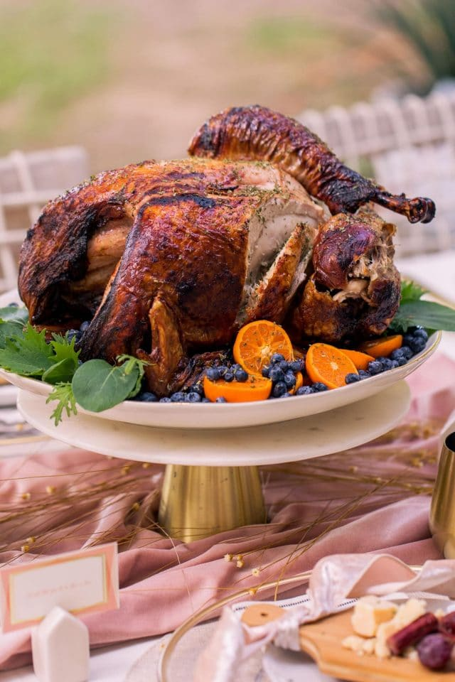 photo of an easy air fryer turkey recipe with Belcampo by top Houston lifestyle blogger Ashley Rose of Sugar & Cloth