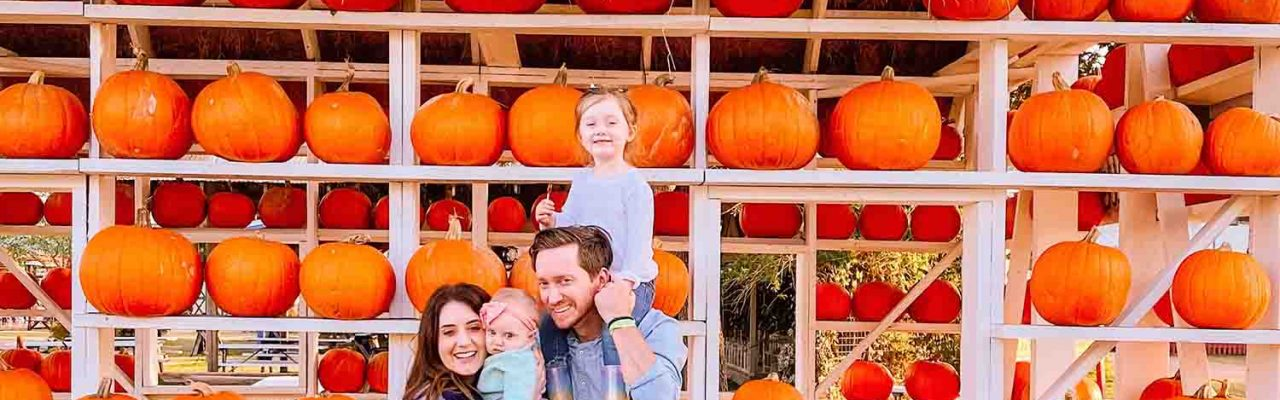 family pumpkin patch photo