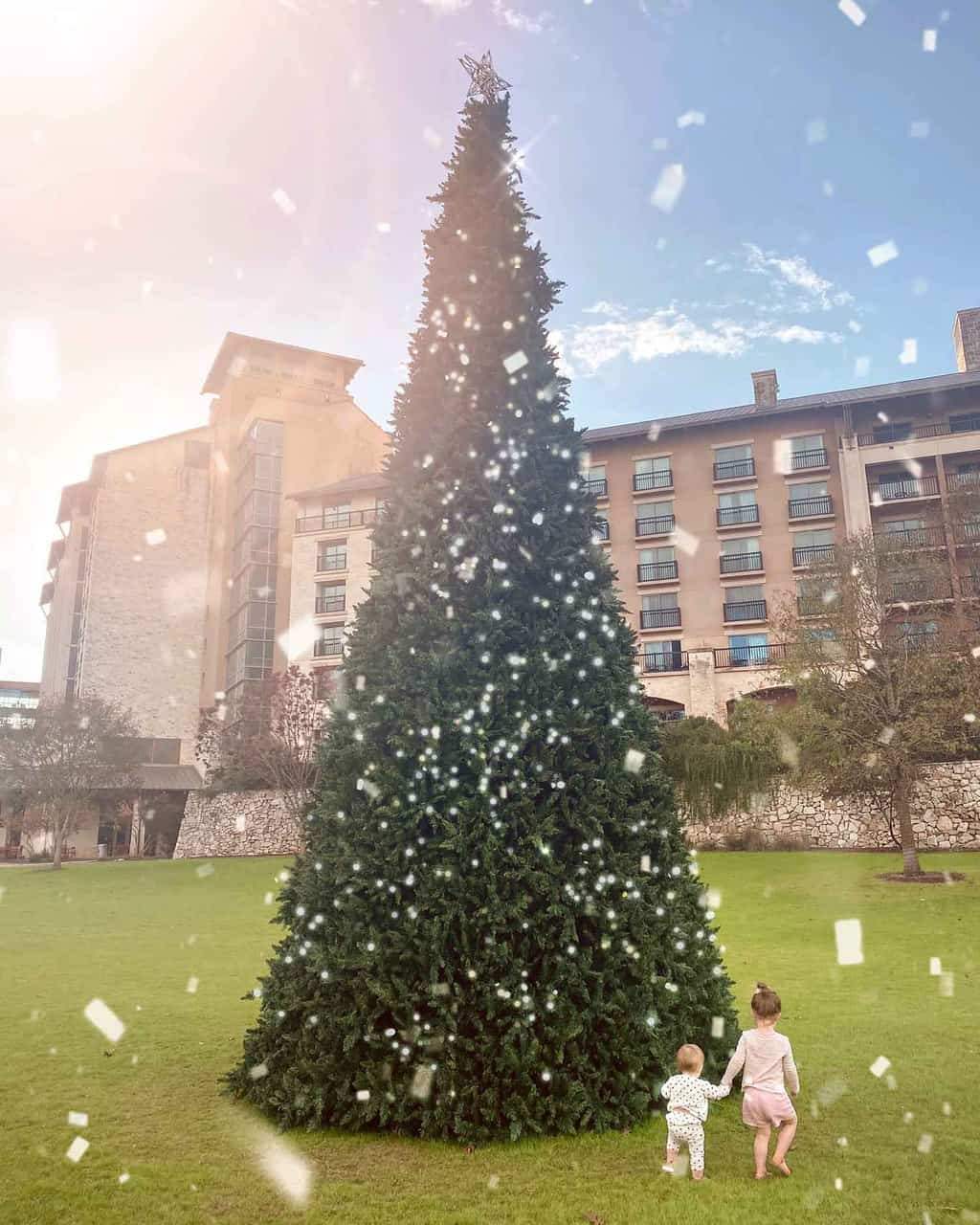 photo of the christmas tree at JW marriott san antonio