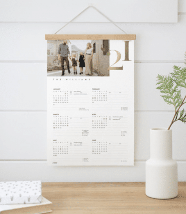 Minted Personalized Gift Hanging Bar Calendar