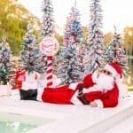 Poolside Christmas Decor With Santa