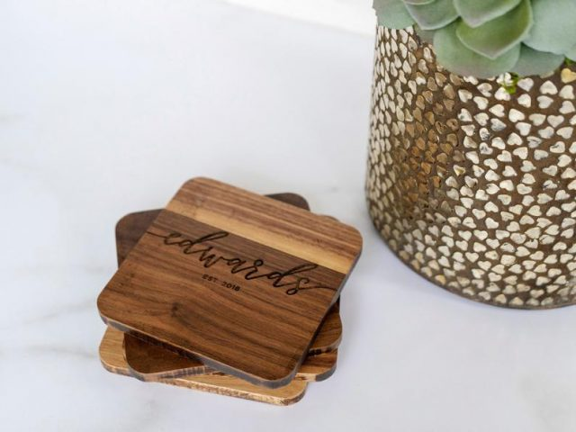 photo of customized gifts ideas, Personalized Engraved Coasters