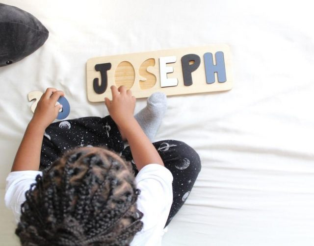 photo of the Wooden Name Puzzle Personalized Gifts