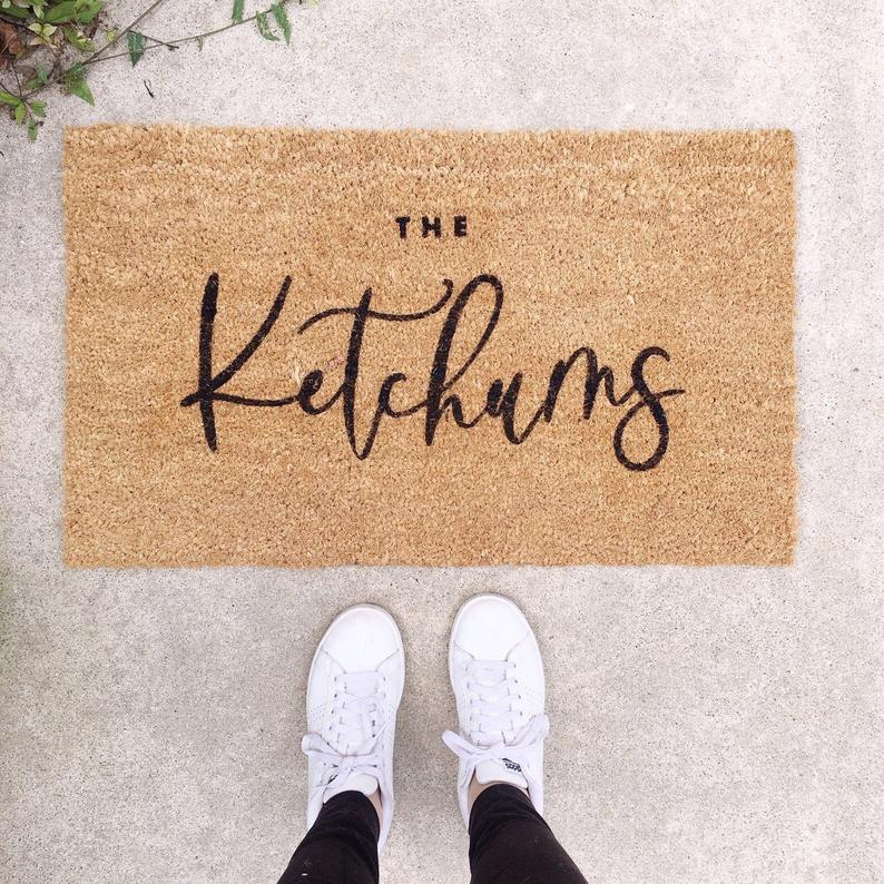 Custom Home Illustration photo of the Customized Doormat as a personalized gift