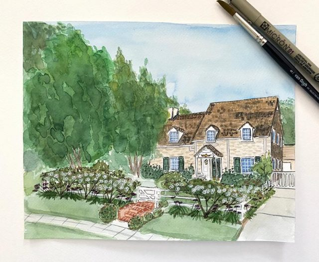 photo of Custom Home Illustration for the best personalized gifts idea