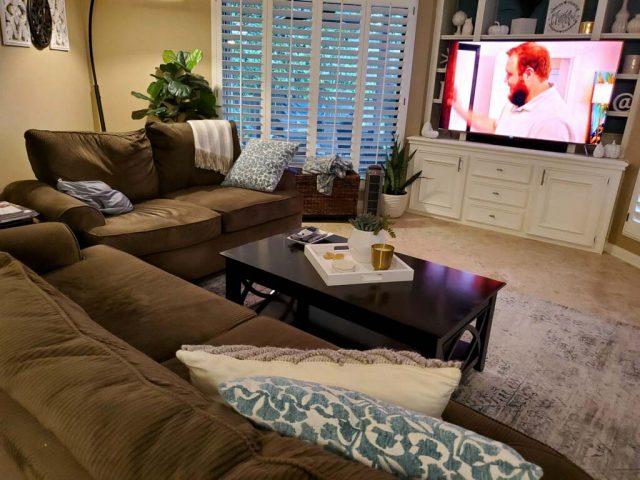 horizontal before dark living room