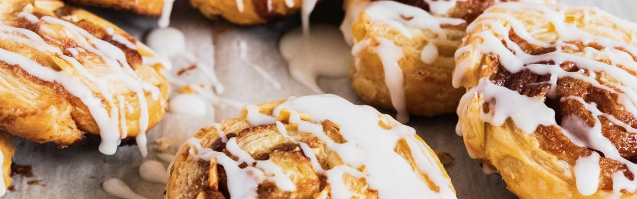 photo of the puff pastry cinnamon rolls recipe by top Houston lifestyle blogger Ashley Rose of Sugar & Cloth