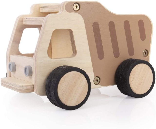 photo of the dump truck as an easter basket for kids
