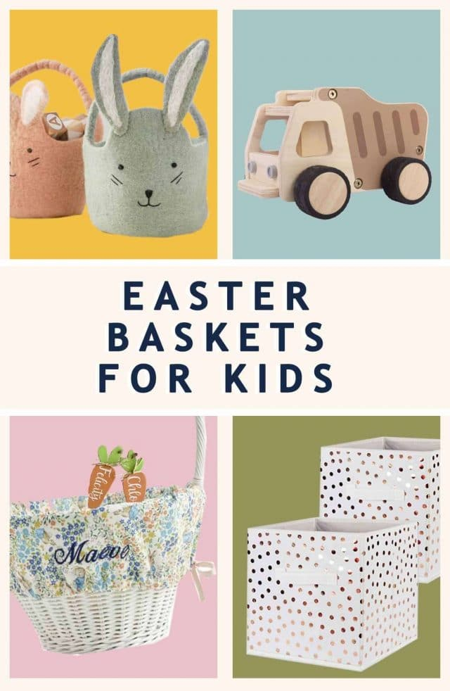 graphic photo of the best Easter baskets for kids by top Houston lifestyle blogger Ashley Rose of Sugar & Cloth