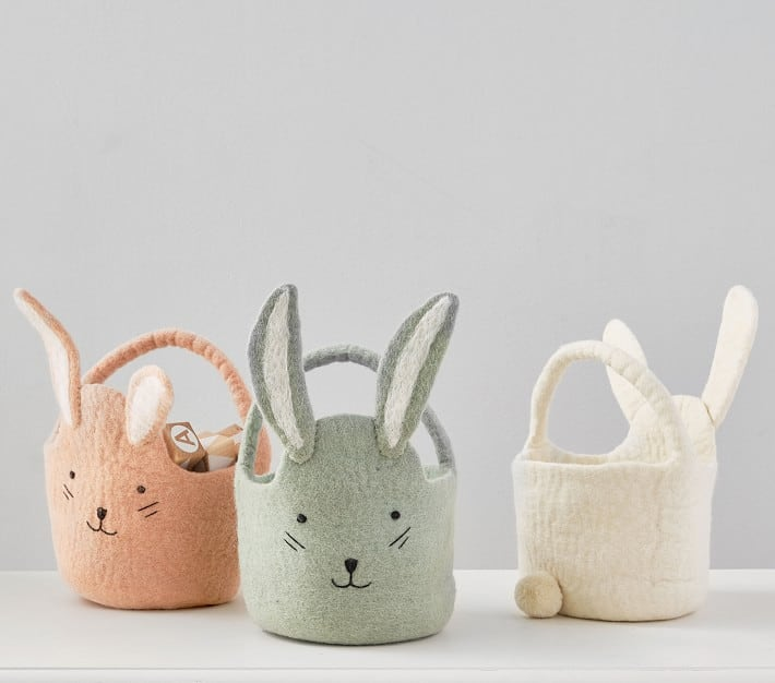 photo of the Felted Bunny Baby Easter Bucket by top Houston lifestyle blogger Ashley Rose of Sugar & Cloth