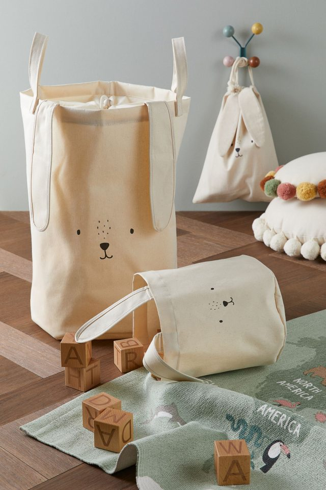 photo of the Bunny Cotton Twill Storage Basket by top Houston lifestyle blogger Ashley Rose of Sugar & Cloth