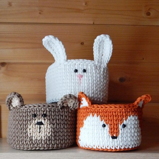 photo of the Crochet Animal Basket