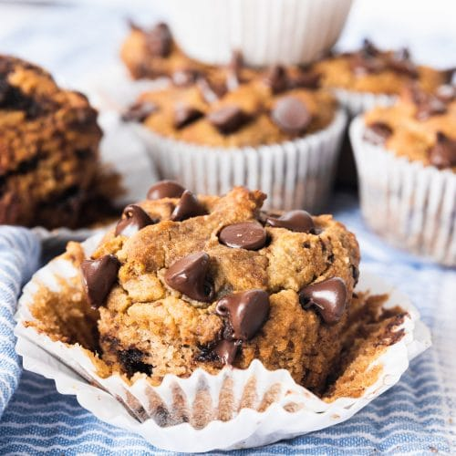 photo of Almond Flour Banana Muffins by top Houston lifestyle blogger Ashley Rose of Sugar & Cloth