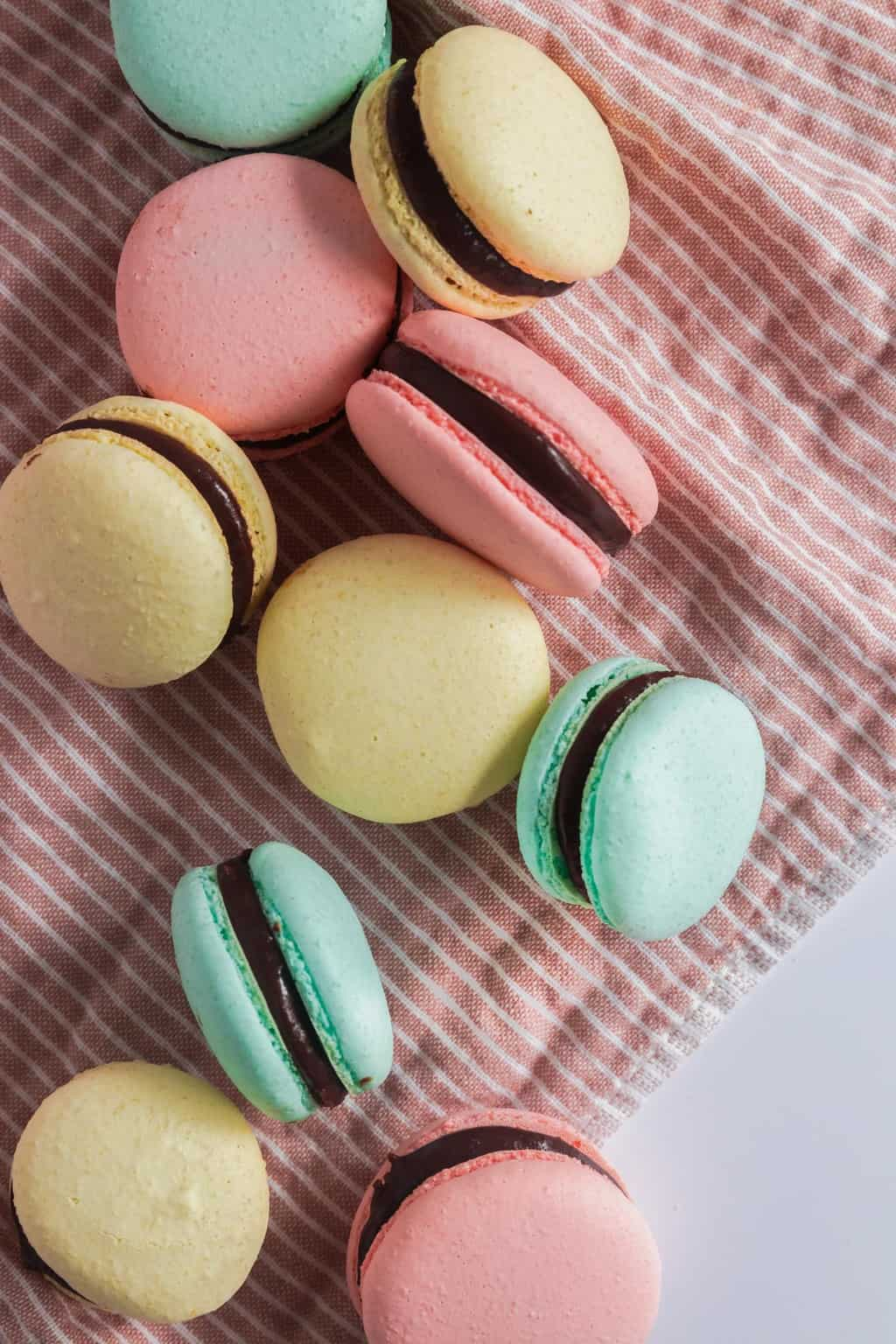 A close up photo of Italian Macarons made by Sugar and Cloth