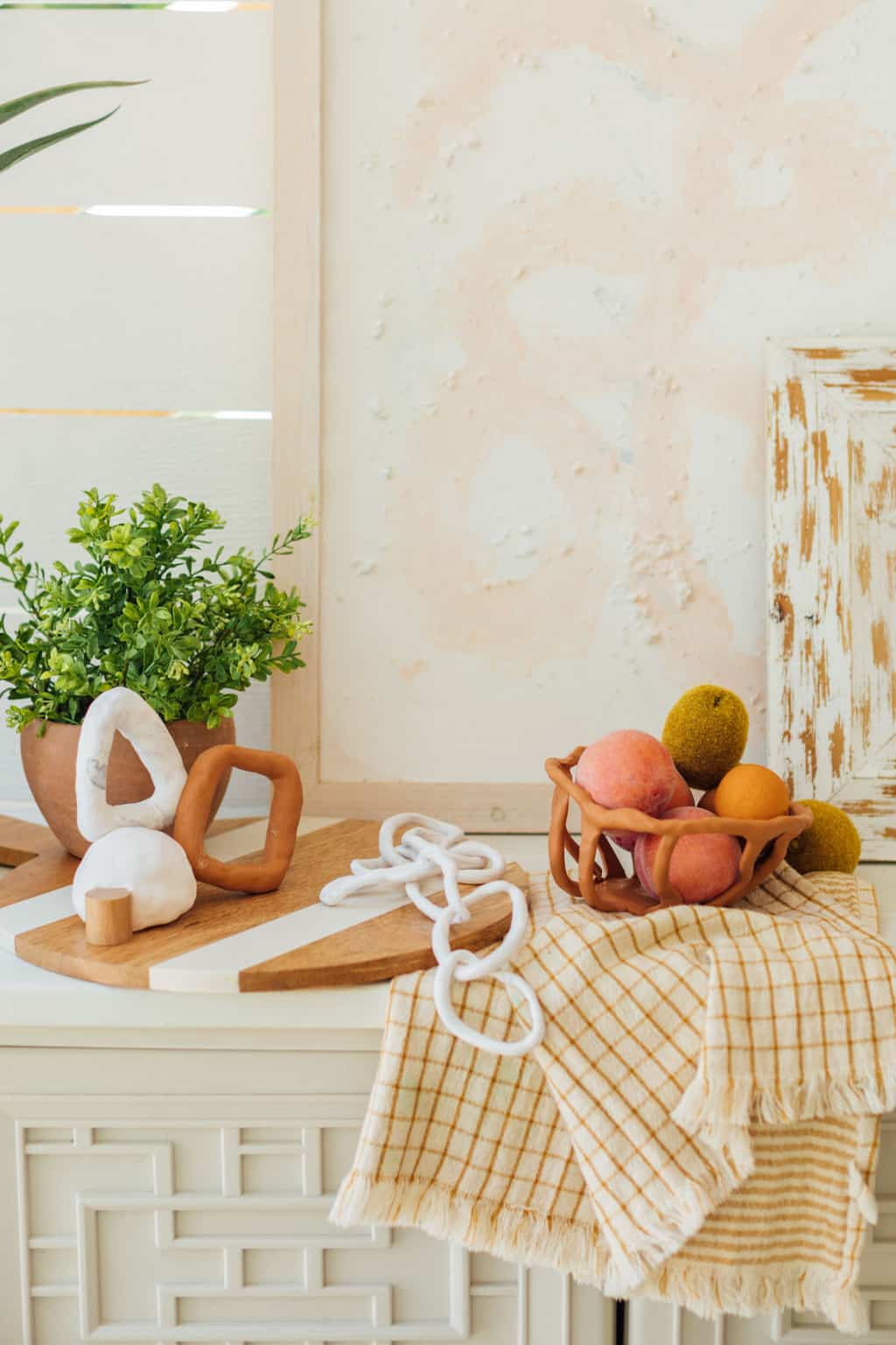 photo of clay home decor by top Houston lifestyle blogger Ashley Rose of Sugar & Cloth