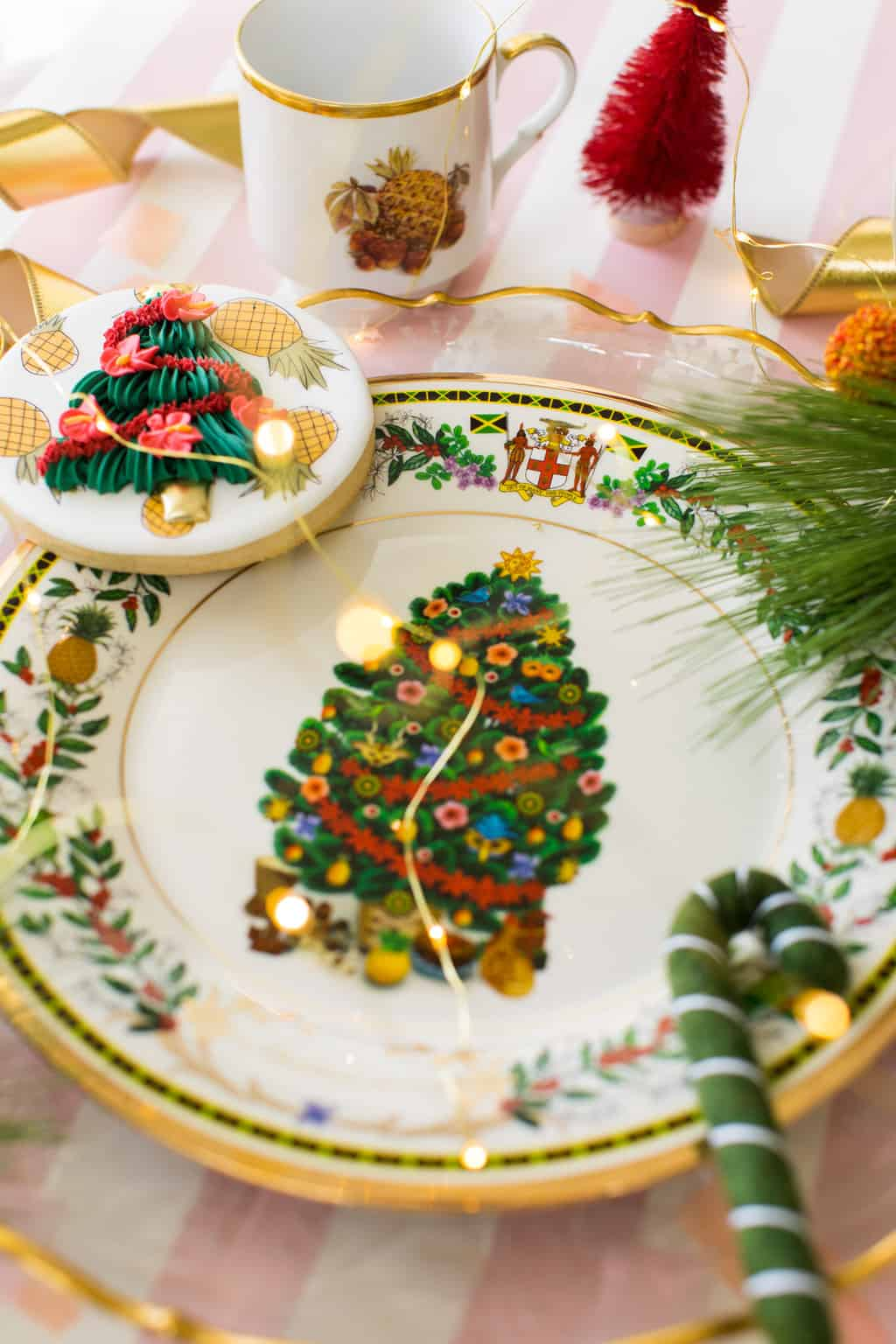 Caribbean Christmas Serving Plate by Replacements Ltd by Ashley Rose of Sugar & Cloth