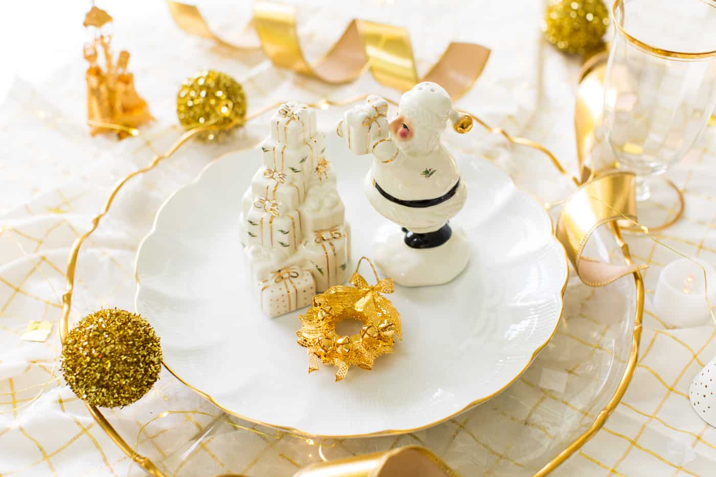 Classic Gold & White Christmas Aesthetic by Ashley Rose of Sugar & Cloth