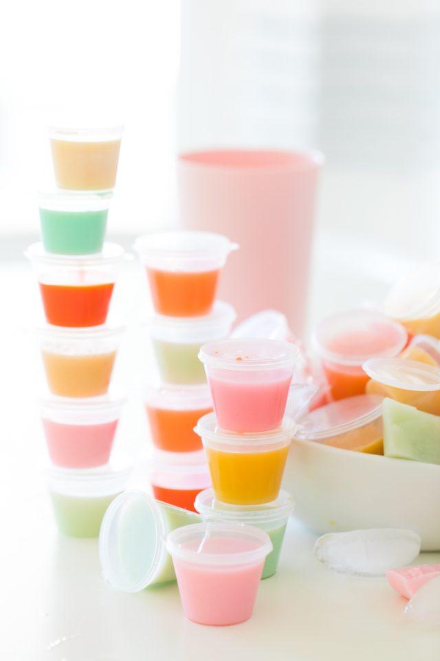 how do you make jello shots - a close up pciture of jello shots
