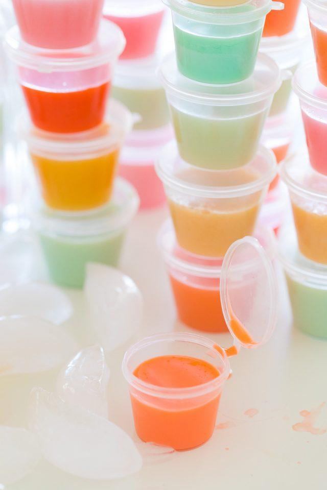 jello shot recipe - close up photo of jello shots