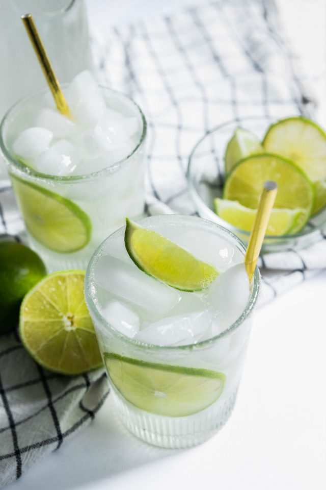 limeaid drink - two cups of limeade drink