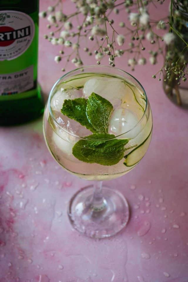 Martini Spritz Recipe - a glassful of martini spritz