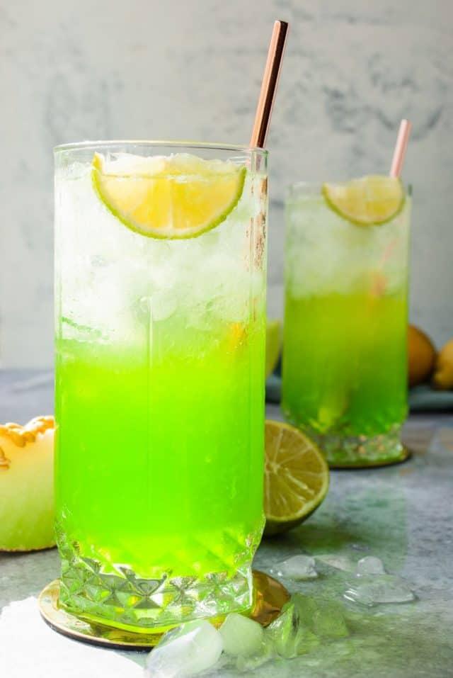 midori sour - midori sour cocktail drink serve in a glass