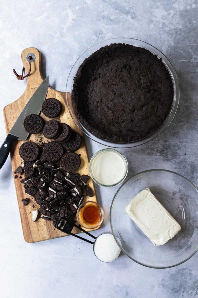 how to make oreo pie - ingredients used to make oreo pie